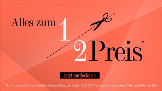 dress for less: Ladies & Men Special vom 1.2. bis 3.2.2013 - Alles zum halben Preis