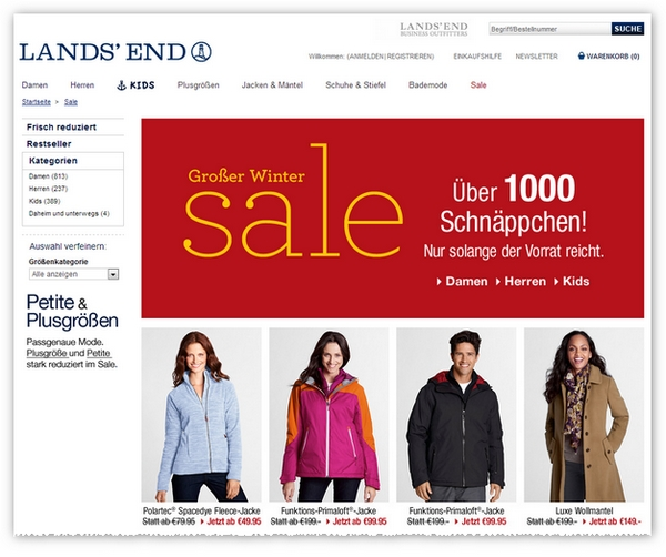Lands' End women's apparel is designed to fit all body types from regular, plus, petite and tall. This holiday season you'll find everything you need to sparkle! Shop during Black Friday and Cyber Monday and save big with discounts ranging from % off.