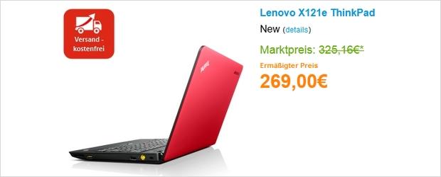 Lenovo X121e Thinkpad im Lenovo Outlet günstiger
