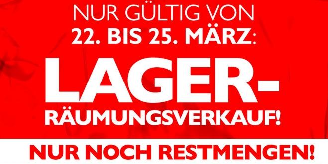 Beate Uhse Lager-Räumungsverkauf vom 22.03. - 25.03.2013