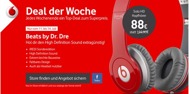 Beats by Dr. Dre Solo HD als Vodafone-Angebot