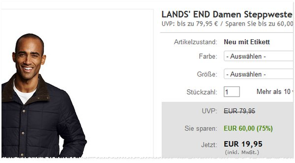 Lands End Steppjacke