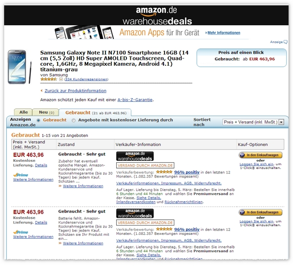 Amazon Warehousedeals Gutschein