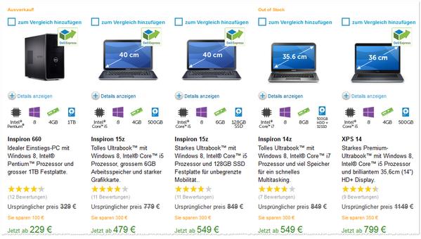 Dell Ausverkauf im Online-Shop von Dell: Megagünstige Ultrabooks