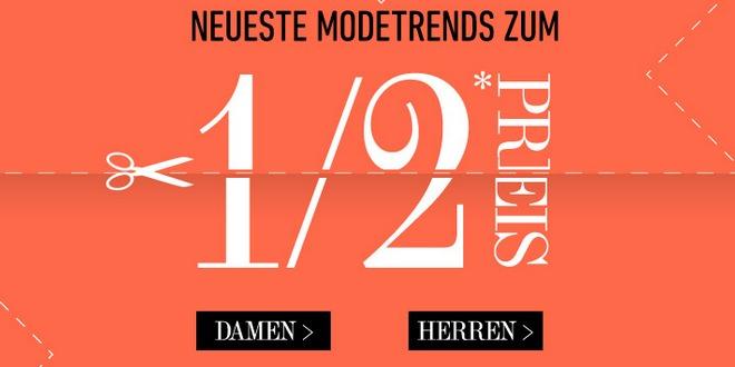 dress-for-less: Artikel zum halben Preis (bis 07.04.2013)
