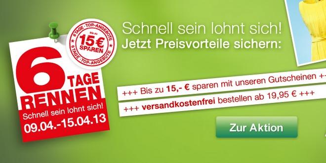 GALERIA Kaufhof 6-Tage-Rennen: Aktionscode mit bis zu 15 € online und in den Filialen