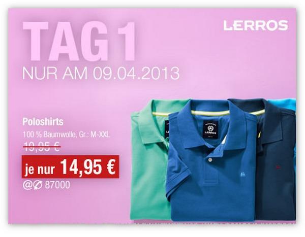 GALERIA Kaufhof Tagesangebot vom 09.04.2013 - Lerros Polo-Shirts