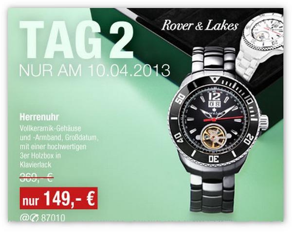 GALERIA Kaufhof Tagesangebot vom 10.04.2013 - Chronograph von Rover & Lakes