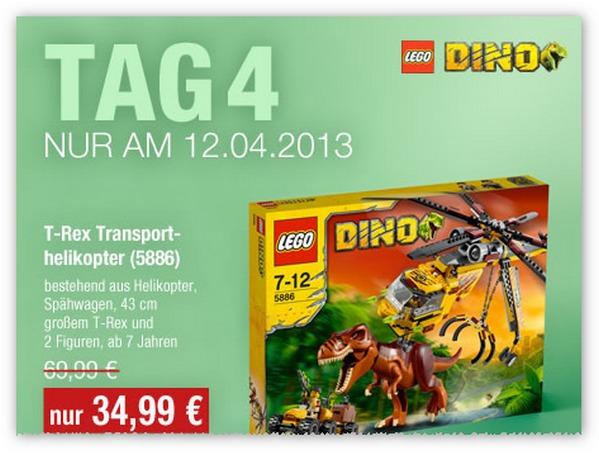 GALERIA Kaufhof 6 Tage Rennen Angebot vom 12.04.2013 - Lego Dinosaurier