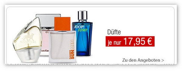 Günstige Parfüm-Angebote bei GALERIA Kaufhof