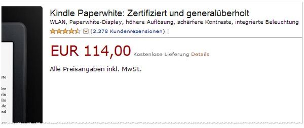 Kindle Paperwhite gebraucht