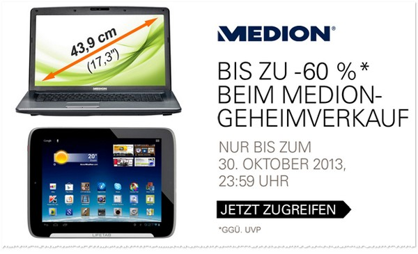 Medion Geheimverkauf im Oktober 2013