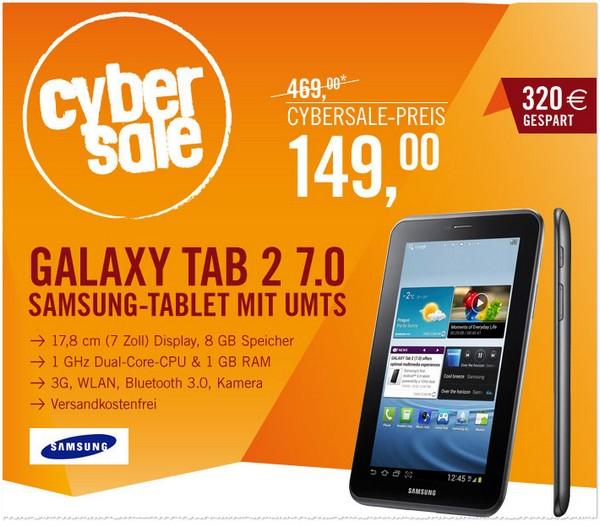 Samsung Galaxy Tab 2 im Cybersale