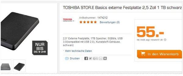 Toshiba Store Basics Festplatte