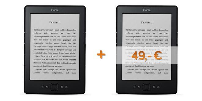 30 € Preisvorteil: 2. Amazon Kindle für 49 € statt 79 €