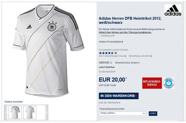 Karstadt DFB Trikot für 20 €