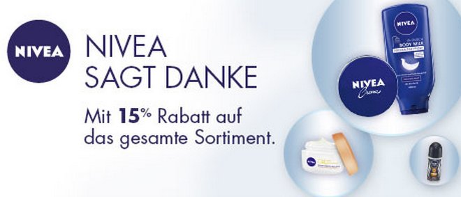 nivea aktion bei amazon mit 15 rabatt. Black Bedroom Furniture Sets. Home Design Ideas