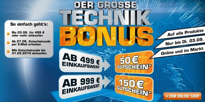 Saturn Technik Bonus bis 02.09.2013