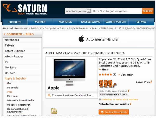 Apple iMac MD093D