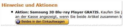 So geht es: Blu-ray-Player und Fernseher mit einem Klick gemeinsam in den Warenkorb legen