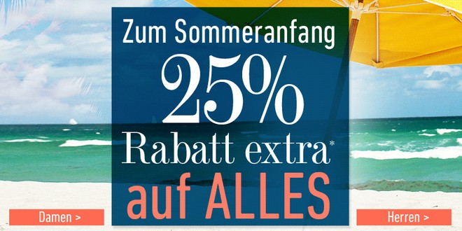 dress for less: 25 Prozent Gutschein extra