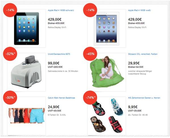 eBay Deals Festival Angebote vom 10.06.2013
