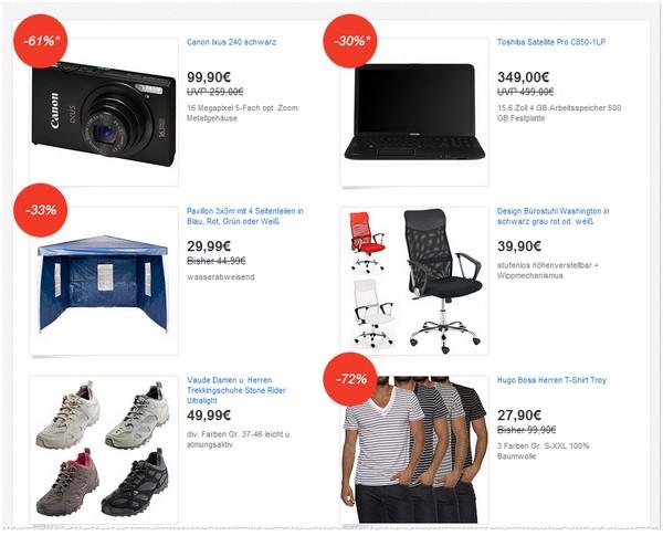 eBay Deals Festival Angebote vom 11.06.2013