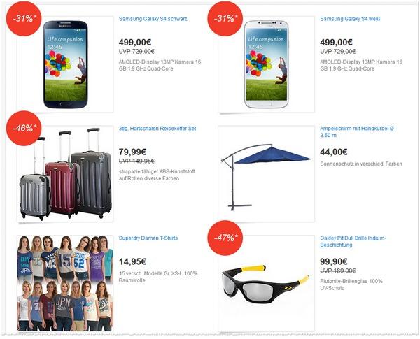Ein Deal Festival: Beim eBay Deals Festival gibt's am 06.06.2013 weitere Tagesangebote