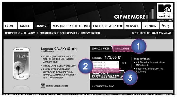 Samsung Galaxy S3 mini günstig kaufen