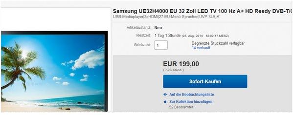 Samsung UE32H4000 kaufen