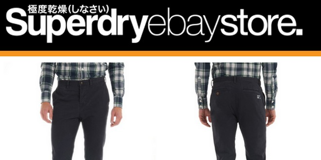 Chino-Hose Superdry Commodity Skinny im Superdry Outlet für 29,95 €