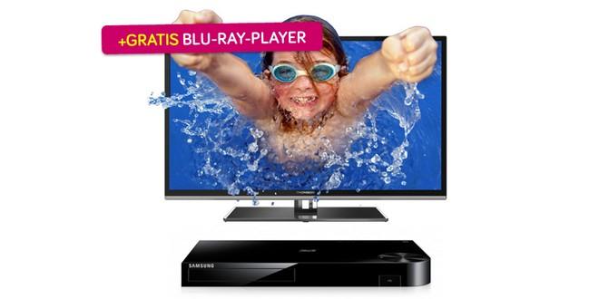 50 Zoll 3D-LED-TV Thomson 50FU6663 inkl. Blu-ray-Player für 599 €