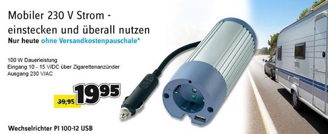 Voltcraft PI 100-12 USB: Zigarettenanzünder-Steckdose für 19,95 € bei Conrad