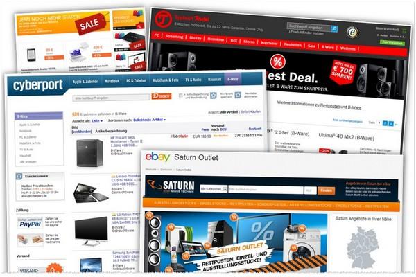 B-Ware günstig kaufen in Online-Outlets