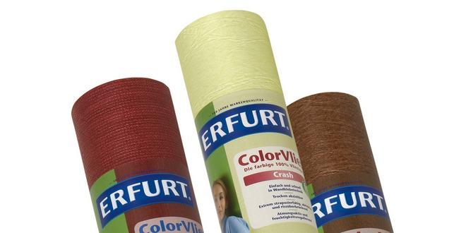 erfurt color vlies tapete pro rolle nur 3 95 bei ebay
