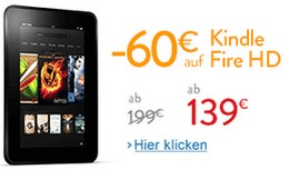 Kindle Fire HD 60 € günstiger