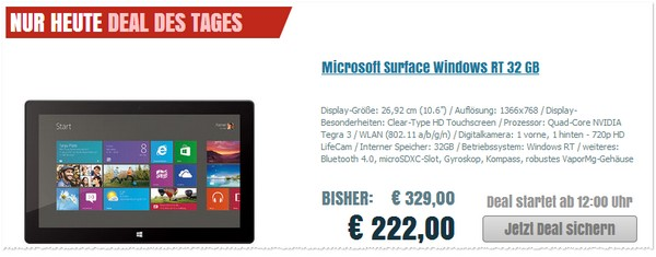 Microsoft Surface Windows RT 32 GB