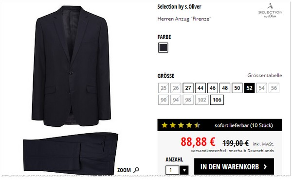 S. Oliver Selection Firenze für 88,88 €