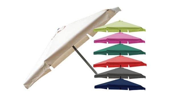 Günstiger Sonnenschirm mit 3 Meter Durchmesser in 7 Farben für 29,99 €
