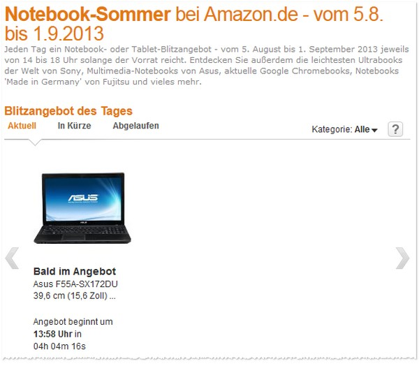 Amazon Notebook Sommer
