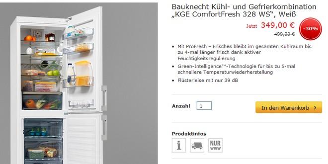 Bauknecht KGE ComfortFresh 328 WS
