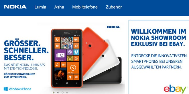 Nokia Showroom bei eBay