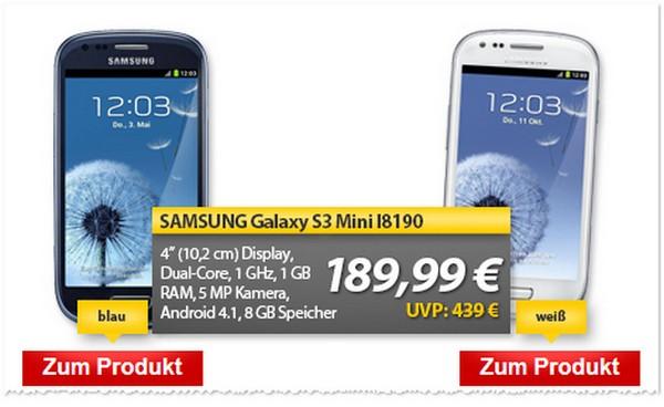 Angebot für das Samsung Galaxy S3 mini ohne Vertrag bei MeinPaket
