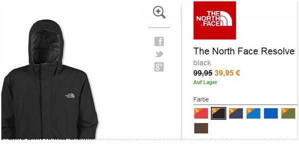 The North Face Resolve Jacket Angebot