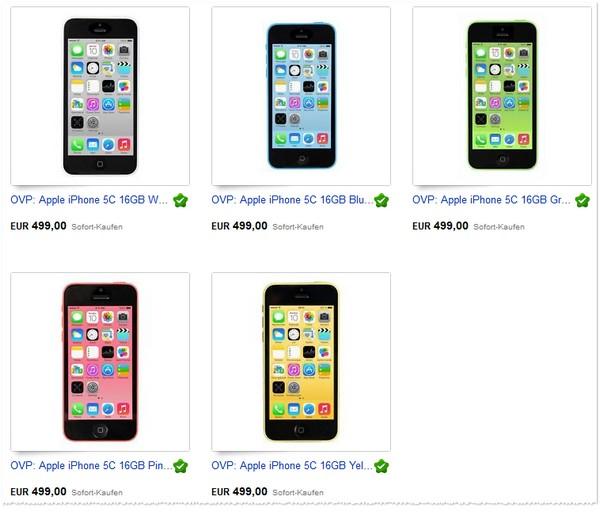 Apple iPhone 5C ohne Vertrag bei eBay