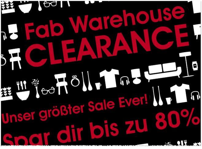Fab Outlet Lagerverkauf