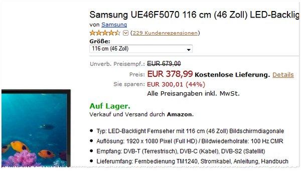 Samsung UE46F6070