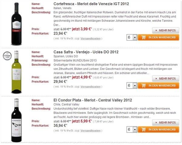 Weinvorteil-Gutschein bestellen