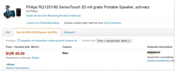 Philips RQ125180 Senso Touch 3D