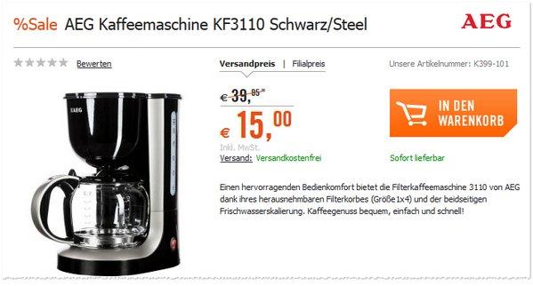 Kaffeeautomat AEG KF 3110
